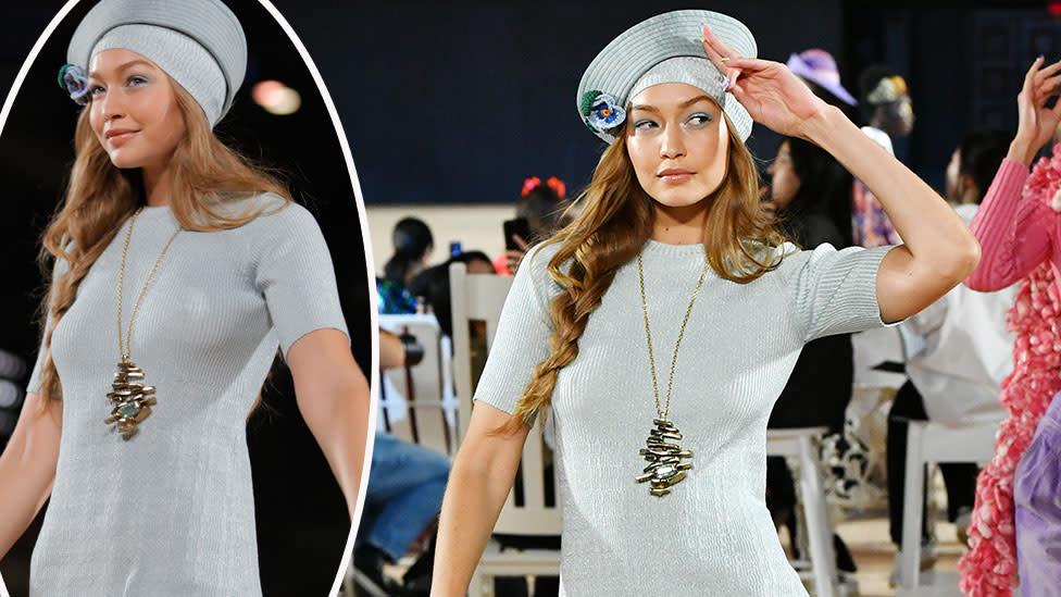 Gigi Hadid handles wardrobe malfunction like a pro