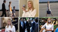 Why has Ivanka Trump worn white for every public appearance since June?