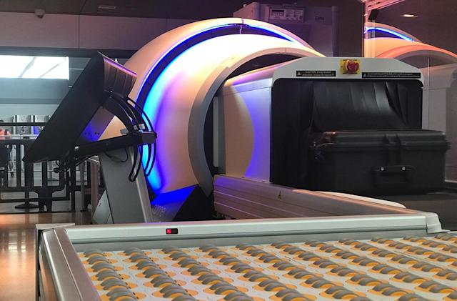 New York's JFK airport will screen luggage with a CT scanner
