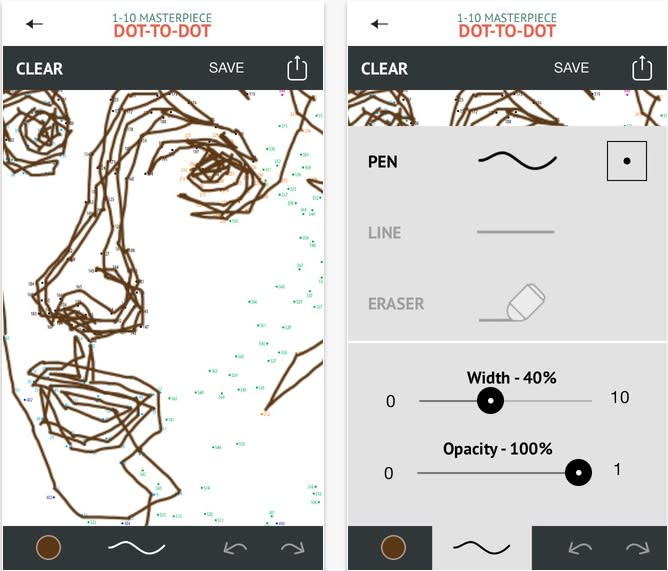 """""""1000 Dot-to-dot: Colouring for Mindfulness"""" iPhone app"""