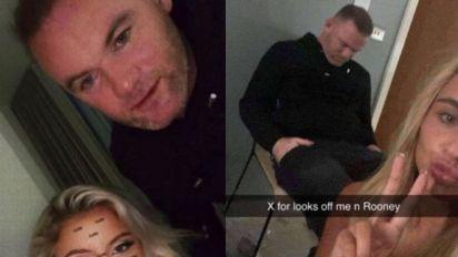 Las fotos del escándalo: el futbolista Wayne Rooney junto a tres mujeres en un hotel