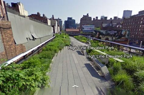 Google Street View walks through parks, so you don't have to