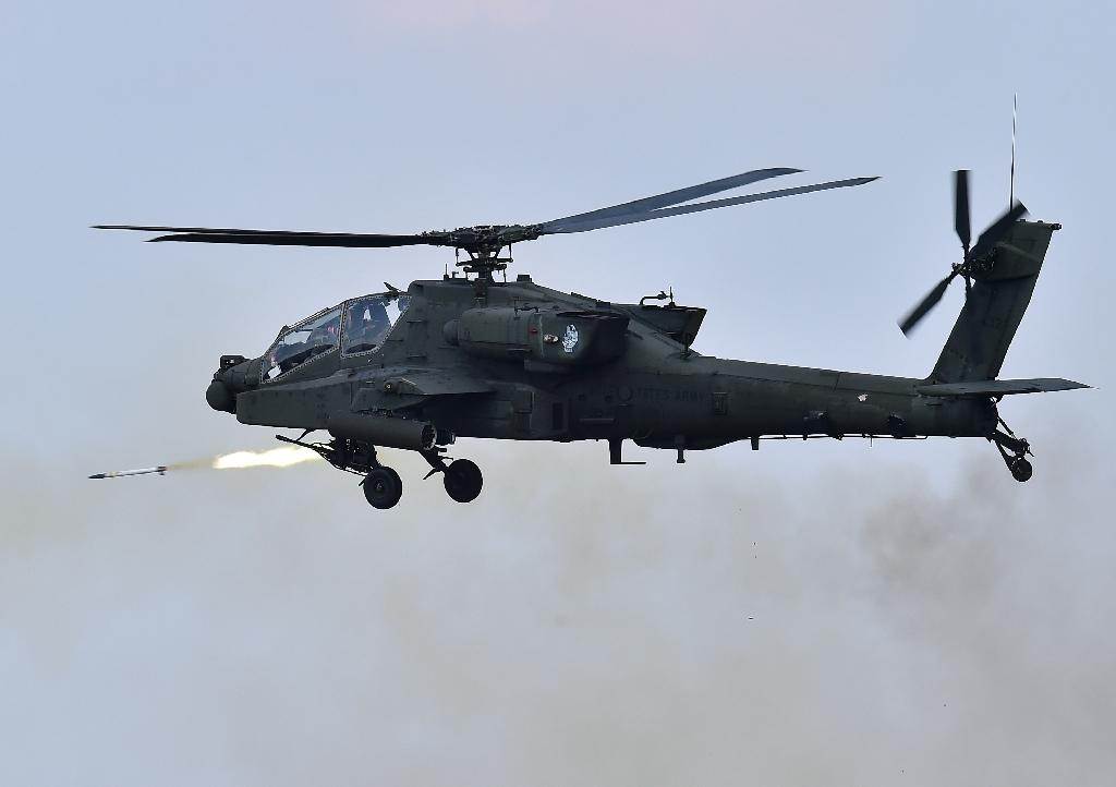 US Apache helicopters, like this one pictured in 2015, are operating in support of the Iraqi Security Forces
