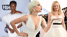 From Lady Gaga to Elisabeth Moss, bridal gowns were front and center at the 2019 SAG Awards