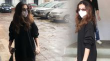 Tara Sutaria Snapped While Dubbing In Andheri