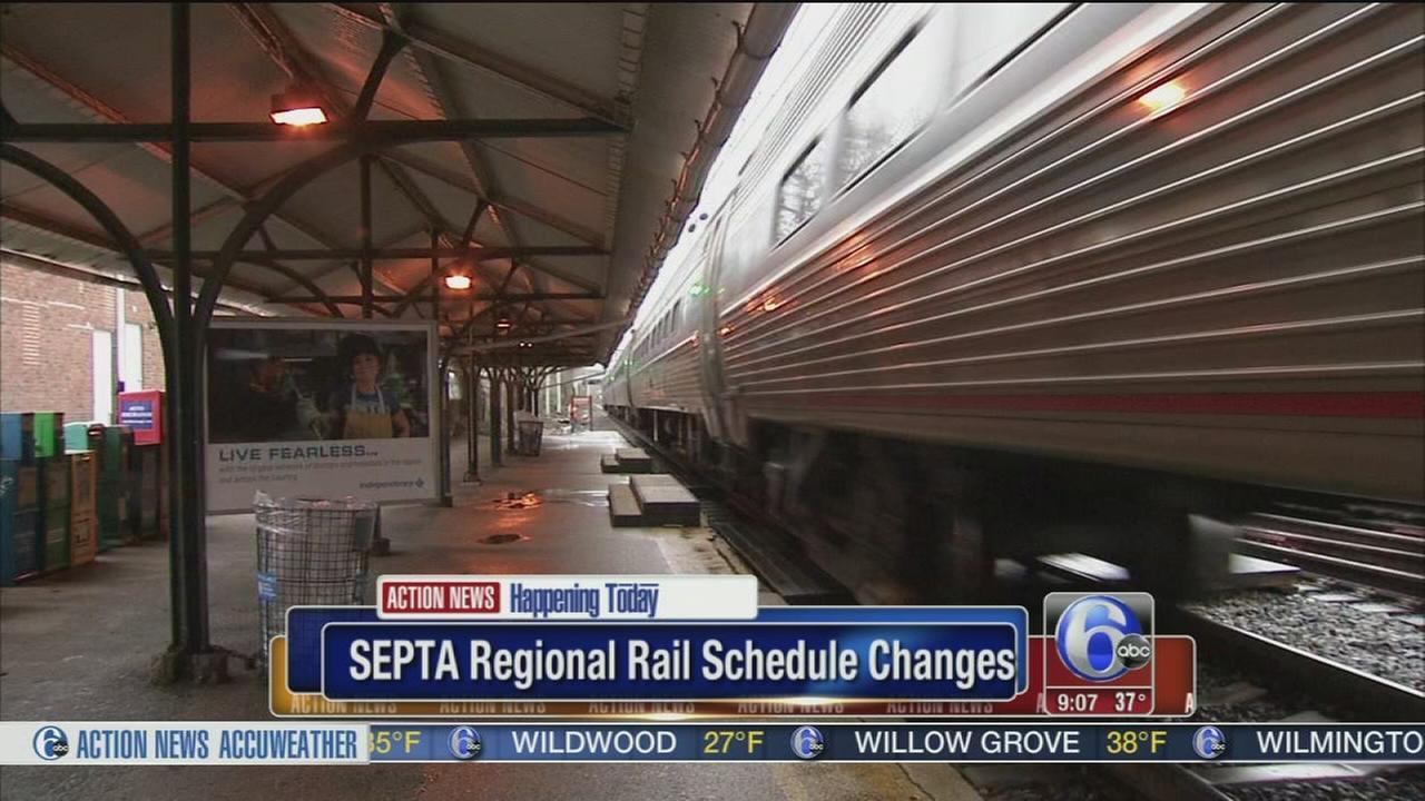 septa makes more changes to regional rail schedules video. Black Bedroom Furniture Sets. Home Design Ideas
