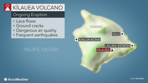 The number of homes destroyed by Kīlauea Volcano on the eastern side of Hawaii's Big Island increased to 35 on Monday.