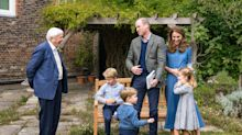 Sir David Attenborough gifts Prince George with a fossilised giant shark's tooth