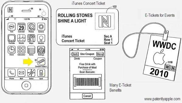 Apple files patent application for NFC e-tickets with 'extra benefits'