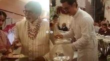 Abhishek Explains Why Amitabh, Aamir Served Food at Ambani Wedding