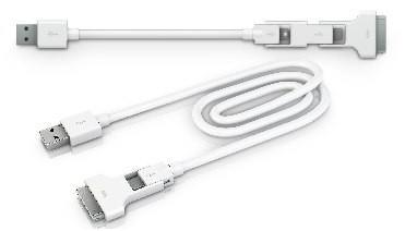 Innergie Magic cables wed USB and 30-pin connections, let you break 'em up on the fly
