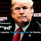 Mueller report quotes Trump's reaction to Russia probe: 'I'm f***ed'