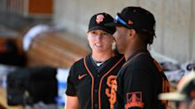 Giants assistant Alyssa Nakken makes MLB history by coaching first base