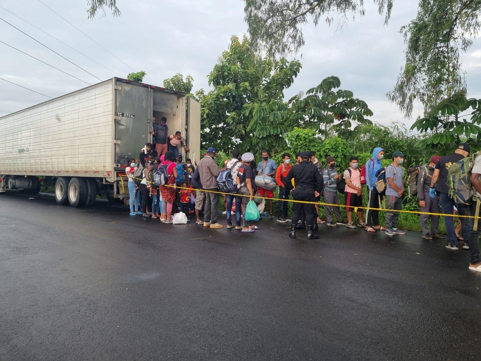 126 mainly Haitian migrants attempting to get to the US were abandoned in a  locked shipping container