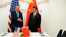 Stocks pare gains on report that China tariffs will stay until after 2020 election