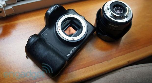 Samsung's Android-powered Galaxy NX hits UK retailers at a weighty £1,299 ($2,000)