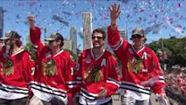 Blackhawks` parade rides through the streets of downtown