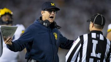 Harbaugh complains about refs in PSU game