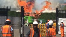 Wimbledon fire: Firefighters tackle blaze on practice courts weeks before Championships