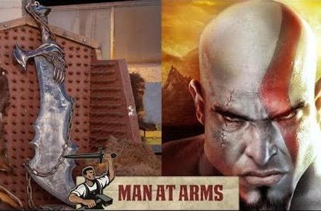 God of War's Blade of Chaos cast in steel by Man at Arms