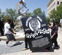 Police chief defends pepper spray at Elijah McClain vigil