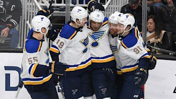 Blues clobber Sharks, close in on Stanley Cup Final