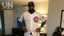LOOK: LeBron wears full Cubs uniform to pay off World Series bet with Dwyane Wade