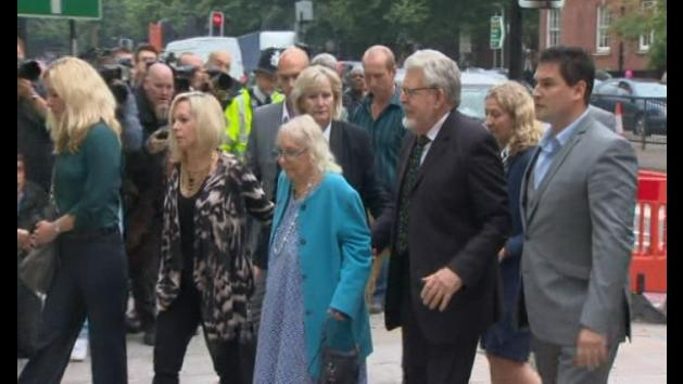 Rolf Harris arrives at court to face sex charges