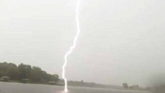 Young Fisherman has Close Call with Lightning