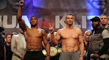 Anthony Joshua vs Wladimir Klitschko weigh-in: Brit comes in 10 pounds heavier than opponent
