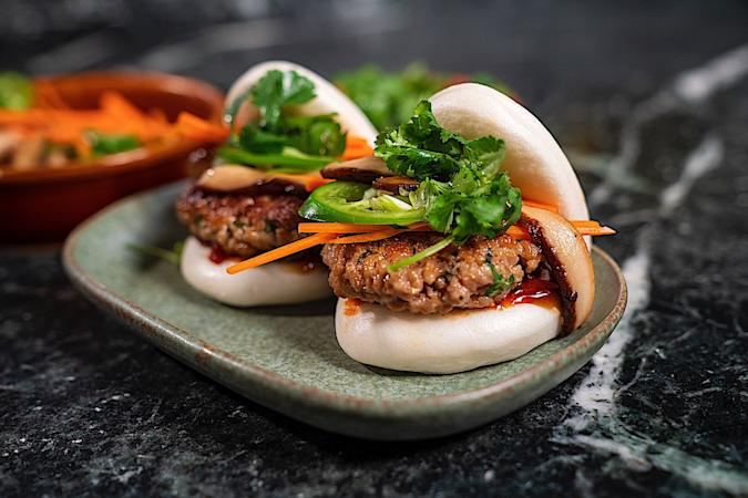 Impossible Foods' plant-based pork used in a pork bun