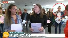 Teenager caught on camera celebrating A-Level results in the best possible way