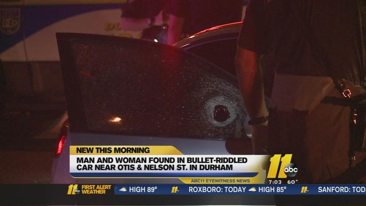 Two people found in bullet-riddled car in Durham