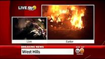 Fire Destroys West Hills Home Police Said Was A Drug Lab