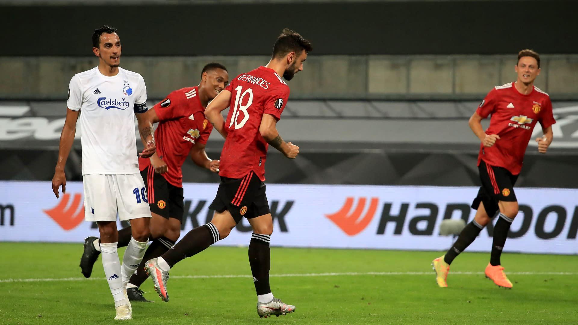 Manchester United 1-0 Copenhagen: Fernandes penalty finally ...