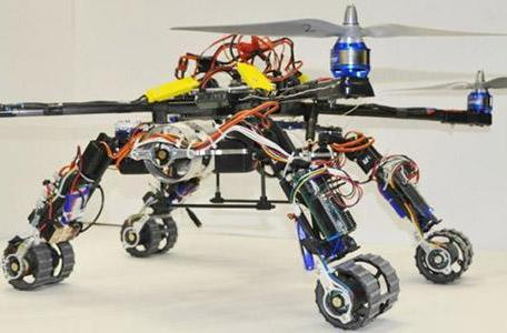 Snakebot and quadcopter combo makes for a go-anywhere rescue drone