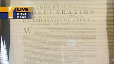 Declaration Of Independence On Display In Hawaii