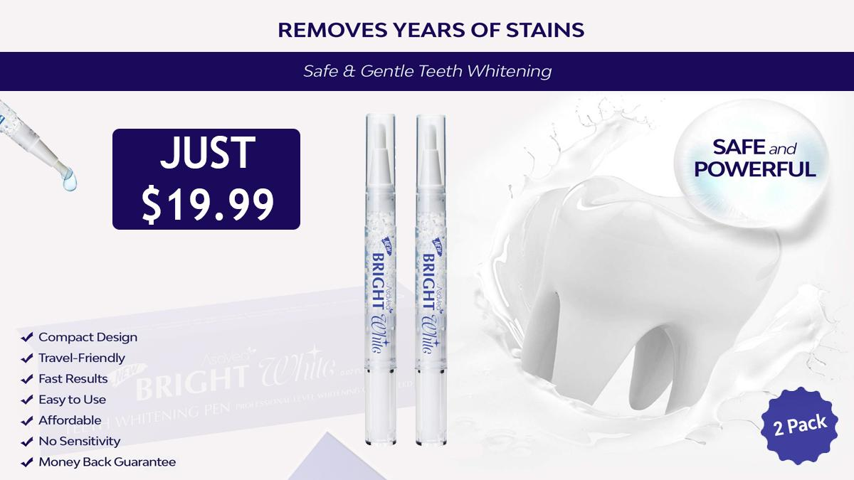Forget Dental Appointments And Use Asavea Teeth Whitening Pen From