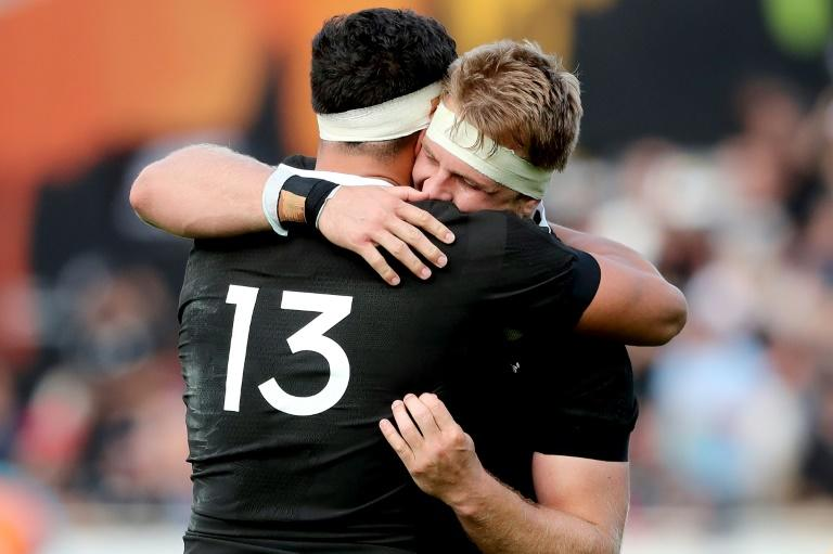Sam Cane (R) recorded his first win as All Blacks captain