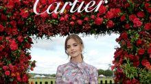 Jenna Coleman: Estilismo floral impecable en Cartier
