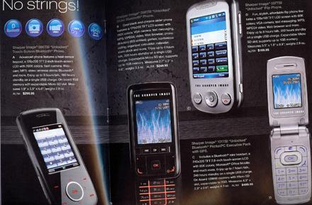 Sharper Image selling self-branded cellphones