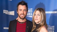 Justin Theroux Shares Sweet PDA Shot With Jennifer Aniston on Their Two-Year Anniversary