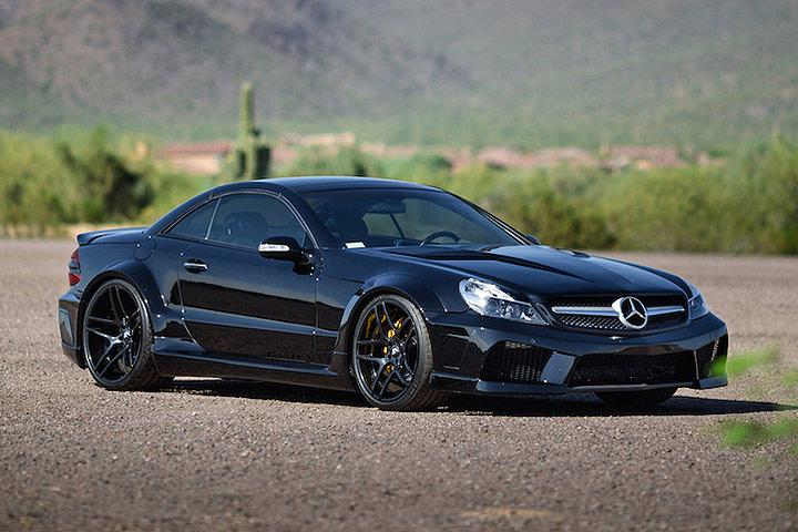 this widebody mercedes sl55 amg is an ageless beauty. Black Bedroom Furniture Sets. Home Design Ideas