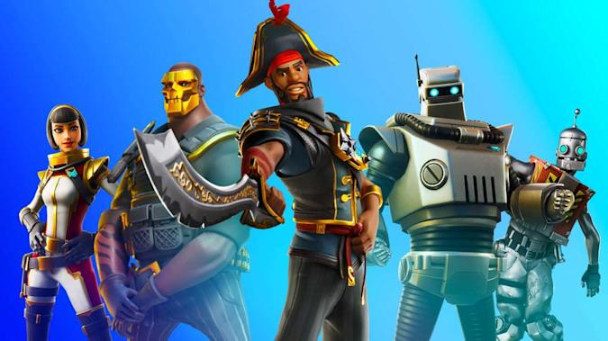 A selection of Fortnite skins
