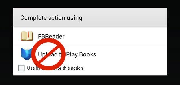 Google Play Books für Android verliert PDF-Upload vorübergehend