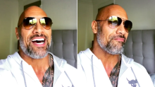 Dwayne 'The Rock' Johnson shows off salt-and-pepper beard