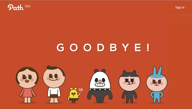 Path is closing its private social network for good