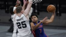 Spurs beat Pistons 106-91 to snap 5-game home skid
