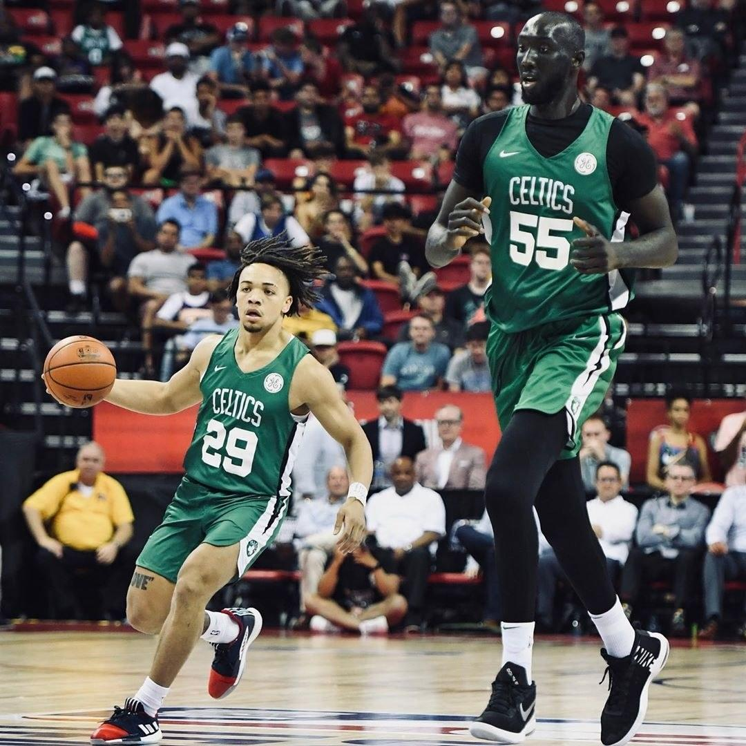 The Height Difference Between Tacko Fall And Fellow Celtics Rookie