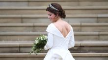 Princess Eugenie's reception dress: Her Zac Posen wedding reception gown is even more magnificent in this behind the scenes picture